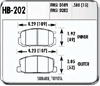 Hawk HB202N.580 - Hawk HP-Plus Performance Brake Pads