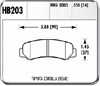 Hawk HB203N.550 - Hawk HP-Plus Performance Brake Pads