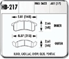 Hawk HB217F.681 - Hawk HPS Performance Brake Pads