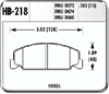 Hawk HB218N.583 - Hawk HP-Plus Performance Brake Pads