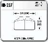 Hawk HB237W.625 - Hawk DTC-30 Circle Track Brake Pads