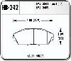 Hawk HB242N.661 - Hawk HP-Plus Performance Brake Pads