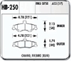 Hawk HB250N.653 - Hawk HP-Plus Performance Brake Pads