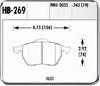 Hawk HB269F.763 - Hawk High Performance Brake Pads for Audi/Volkswagen