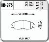 Hawk HB275N.620 - Hawk HP-Plus Performance Brake Pads