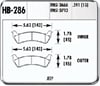 Hawk HB286Y.591 - Hawk LTS Light-Truck and SUV Brake Pads