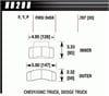 Hawk HB298Y.787 - Hawk LTS Light-Truck and SUV Brake Pads