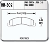 Hawk HB302Y.700 - Hawk LTS Light-Truck and SUV Brake Pads
