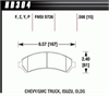 Hawk HB304Y.598 - Hawk LTS Light-Truck and SUV Brake Pads