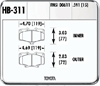 Hawk HB311Y.591 - Hawk LTS Light-Truck and SUV Brake Pads