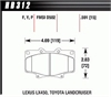 Hawk HB312Y.591 - Hawk LTS Light-Truck and SUV Brake Pads