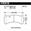 Hawk HB616Z.607 - Hawk Ceramic Brake Pads