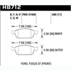 Hawk HB712Z.680 - Hawk Ceramic Brake Pads