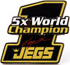 JEGS 14698 - JEGS 5-Time World Champion Hat Pin