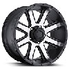 Ultra Wheel 195-6886U - Ultra 195 Series Crusher RWD Semi-Gloss Black w/ Diamond Cut Face Wheels