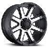 Ultra Wheel 195-7853U - Ultra 195 Series Crusher RWD Semi-Gloss Black w/ Diamond Cut Face Wheels