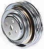 Mr. Gasket 8829 - Mr. Gasket Chrome-Plated Steel Pulleys