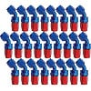 Russell 610098 - Russell AN Hose End Fittings - Red/Blue