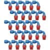Russell 610158 - Russell AN Hose End Fittings - Red/Blue