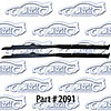SoffSeal 2091 - SoffSeal Window Glass Seals - Chevy/GMC