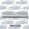 SoffSeal 2245 - SoffSeal Window Glass Seals - Chevy/GMC