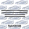SoffSeal CH1108 - SoffSeal Window Glass Seals - Ford/Dodge