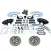 SSBC A120 - Stainless Steel Brakes Cast Iron Front 4-Piston Drum to Disc Brake Conversion Kit