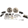 Stainless-Steel-Brakes-Cast-Iron-Front-4-Piston-Drum-to-Disc-Brake-Conversion-Kit