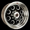 Weld Racing T50B7085D38A - Weld Racing Forged T50-Series Black Truck Wheels