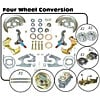 Right Stuff AFXDC45C - Right Stuff 4 Wheel Disc Brake Conversion Kits