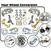 Right Stuff AFXDC45CSX - Right Stuff Premium 4 Wheel Power Disc Brake Conversion Kits