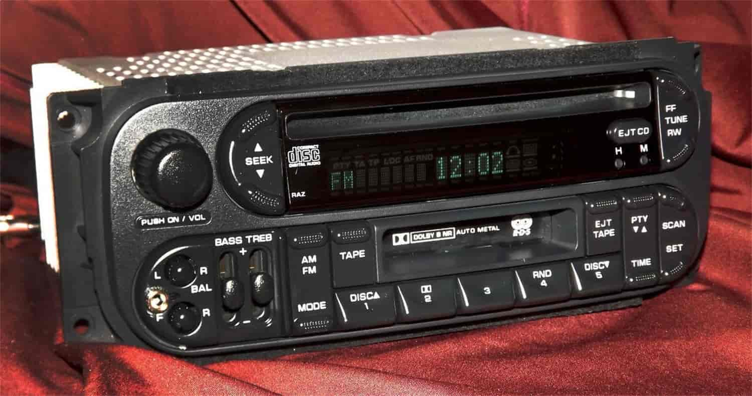 1 Factory Radio Replacement Radio w/Auxiliary Input for 2002-2006  Jeep/Chrysler/Dodge