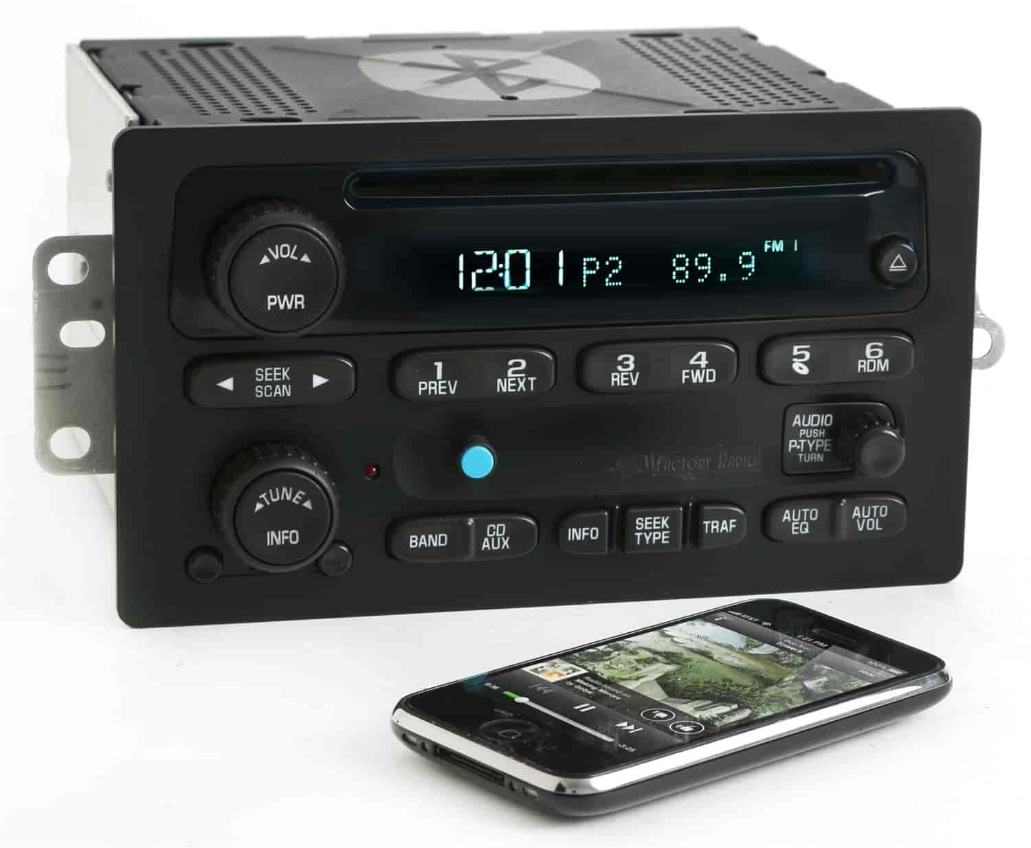 1 Factory Radio 63801507bt Replacement Radio W Bluetooth For 2003 2005 Chevy Gmc Truck Jegs