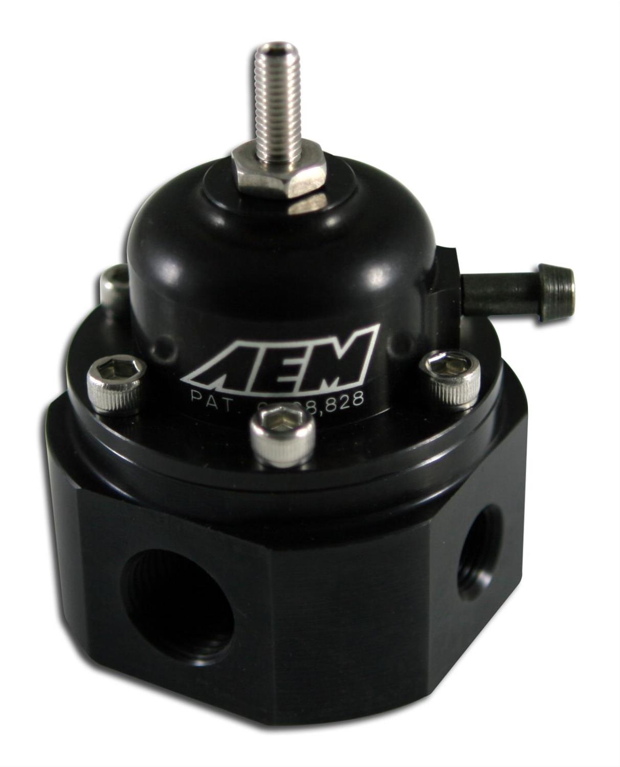 AEM 25-302BK - AEM Universal Adjustable Fuel Pressure Regulators