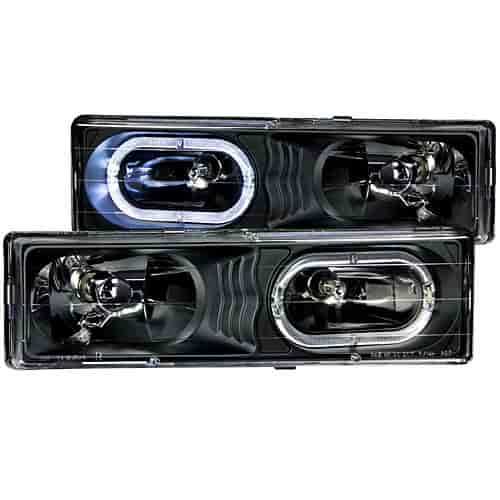 Anzo 111007 - Anzo Black Headlights