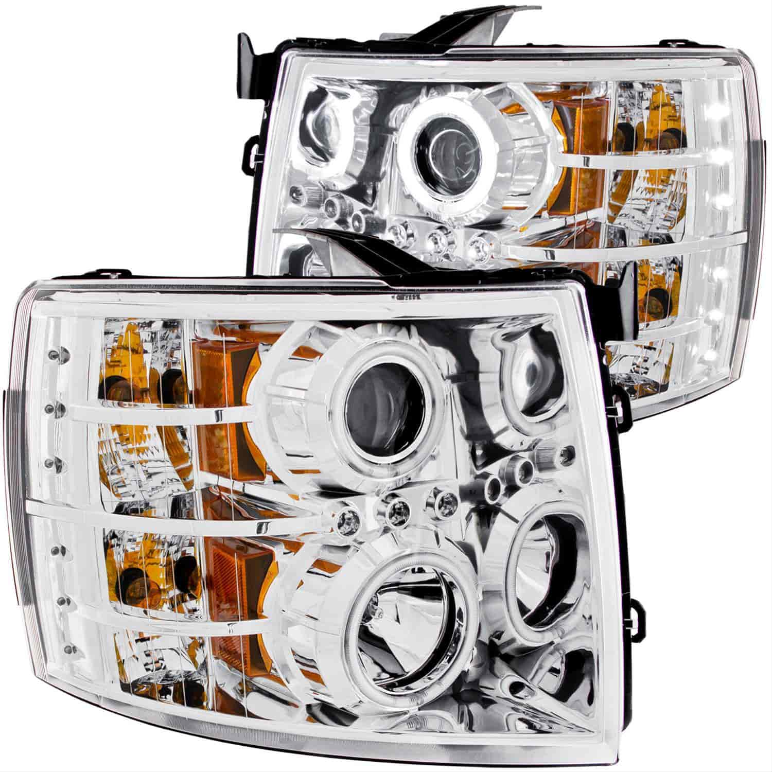 Anzo 111086 - Anzo Chrome Headlights