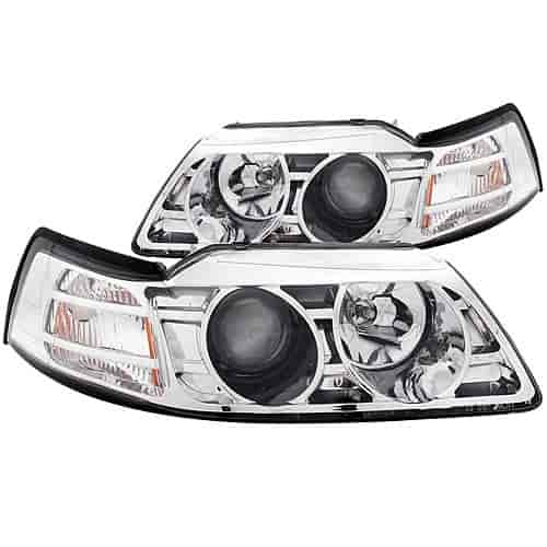 Anzo 121043 - Anzo Chrome Headlights