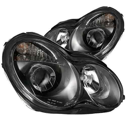 Anzo Black Housing Headlights 2000-2007 Mercedes C Class W203