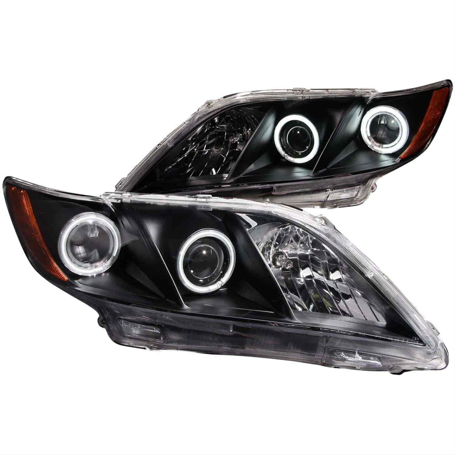 Anzo 121181 Black Housing Headlights 2007 2009 Toyota