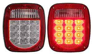 Anzo 861082 - Anzo Red/Clear LED Taillights