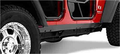Bestop 42950-01 - Bestop HighRock 4x4 Rocker Trim for Wrangler