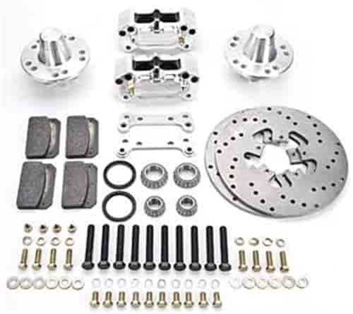 Aerospace Components AC-225 - Aerospace Components 4 Piston Heavy Duty Front Drag Race Brake Kits