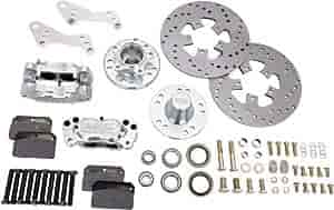 Aerospace Components AC-205 - Aerospace Components 4 Piston Heavy Duty Front Drag Race Brake Kits
