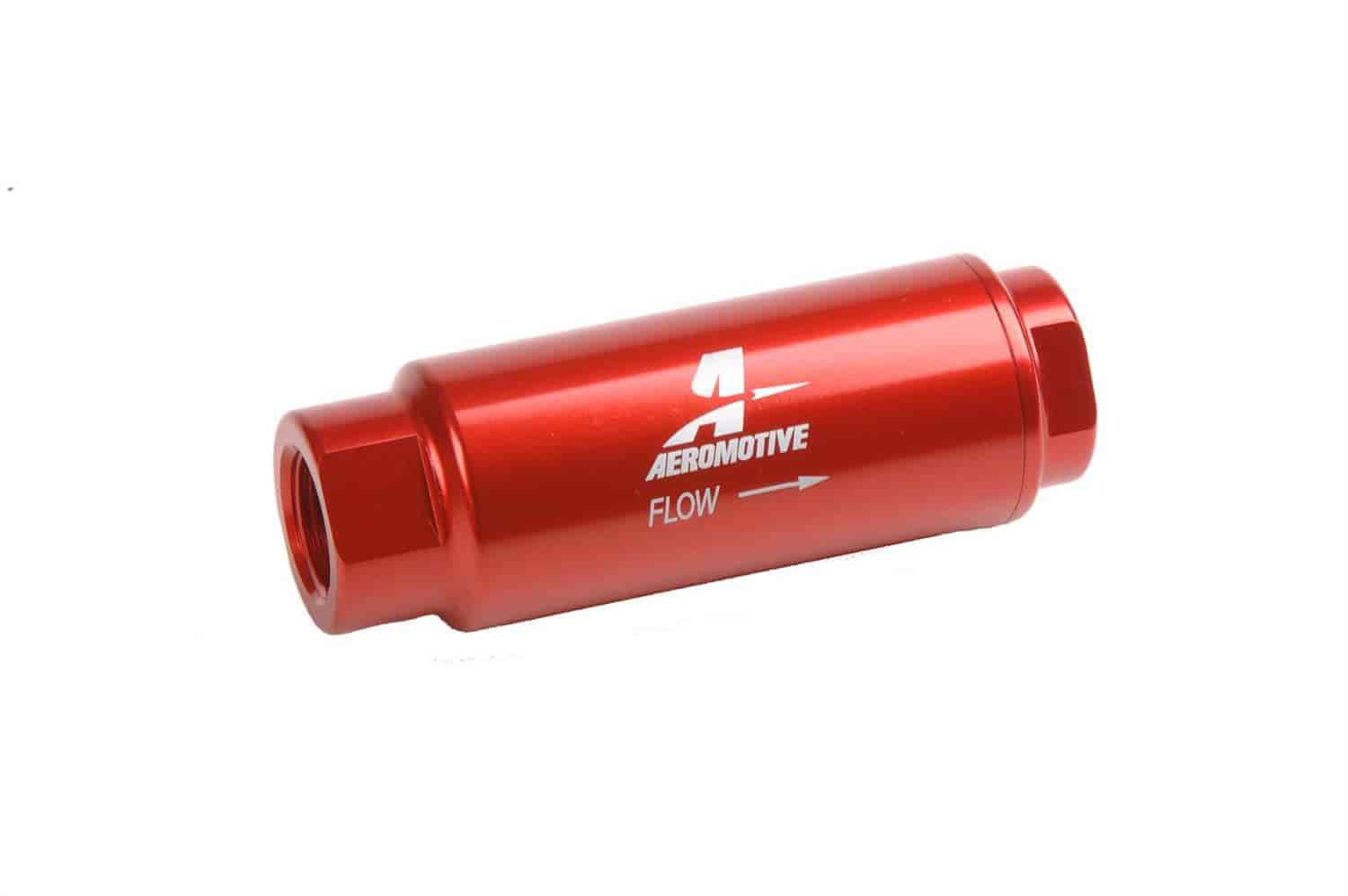 "Aeromotive In-Line Fuel Filter 3/8"" NPT Inlet & Outlet"