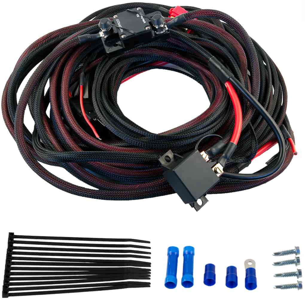 Aeromotive 16308: Premium Fuel Pump Wiring Kit | Heavy Duty | 60-Amp |  Simple Installation | Wire Loom | Sold as a Kit | JEGS | Aeromotive Wiring Harness |  | JEGS