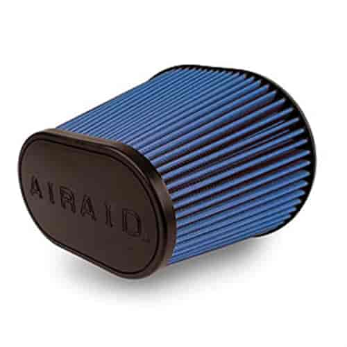 """AIRAID 721-243 SYNTHAMAX UNIVERSAL OVAL AIR FILTER 4/"""" FLANGE"""