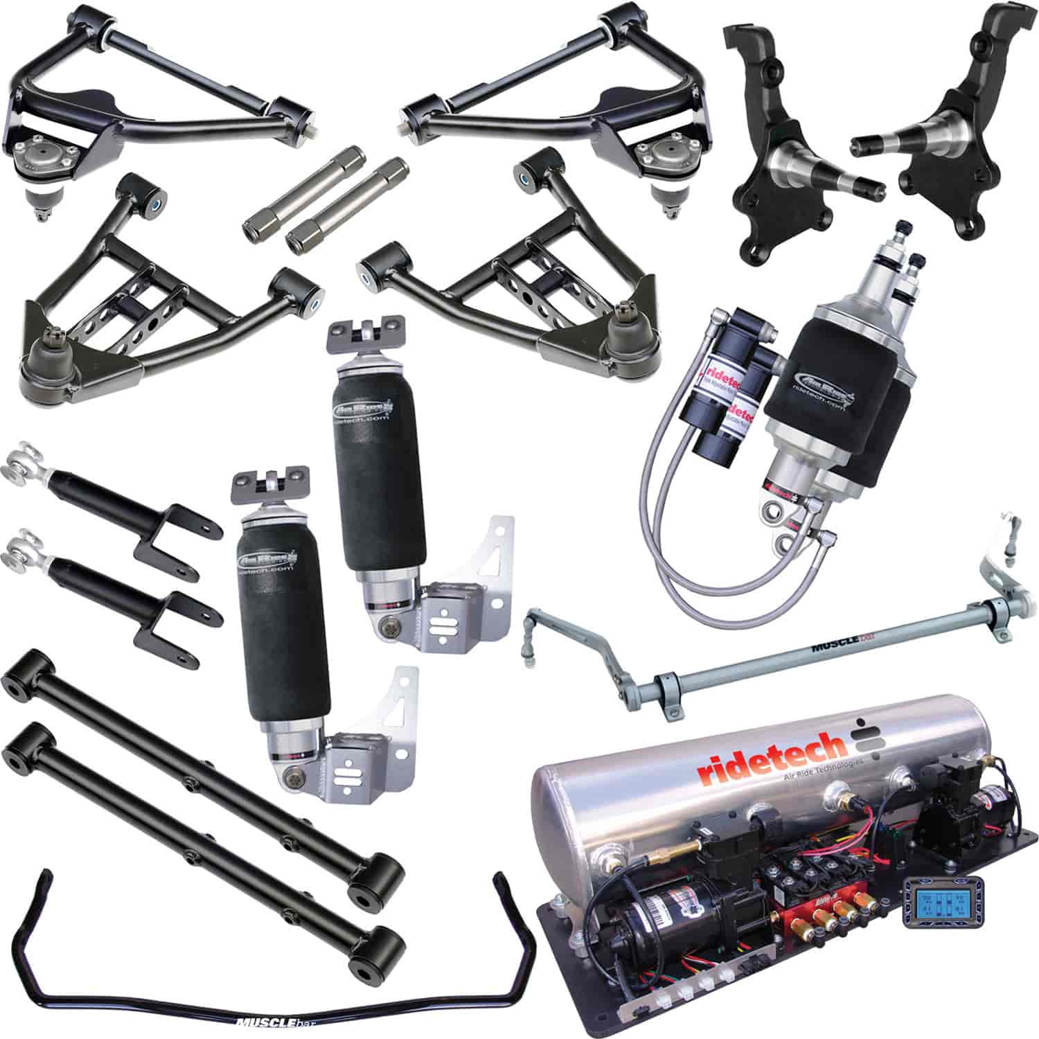 Ridetech 11240399 - Ridetech 1964-72 Chevelle/GTO/Cutlass/Skylark Air Suspension System