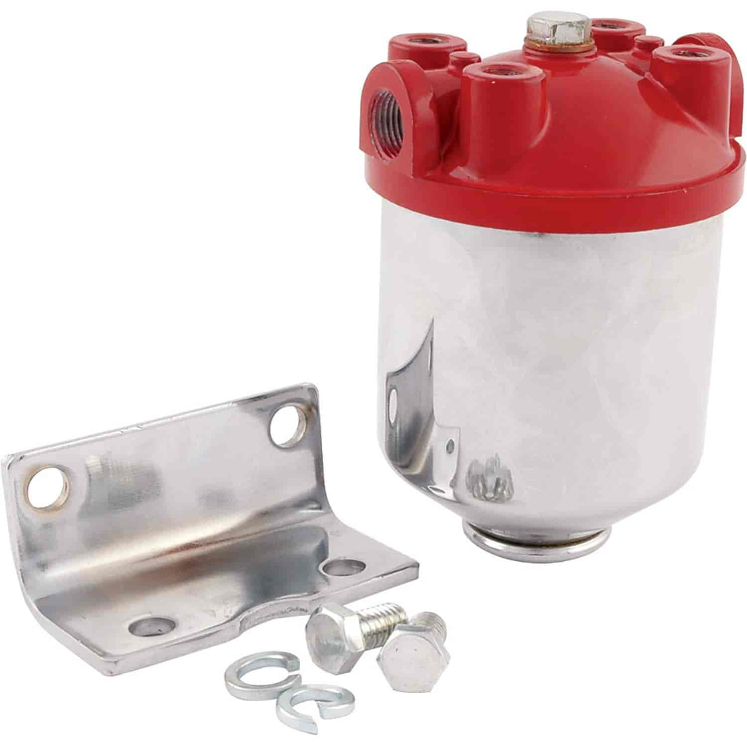 allstar performance  fuel filter chrome canister