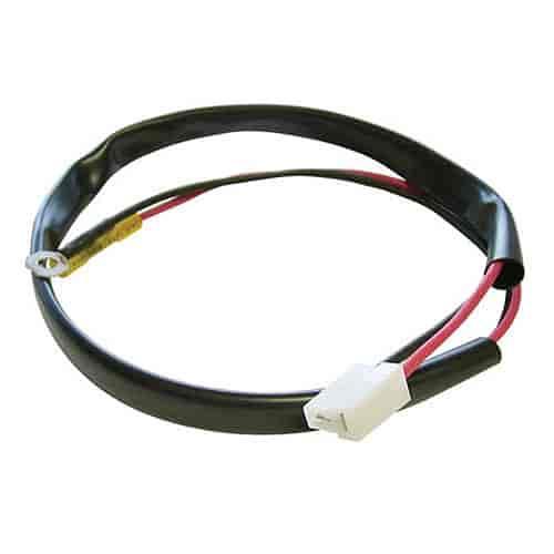 spal fr pt fan pig tail connector amp connector jegs spal fr pt