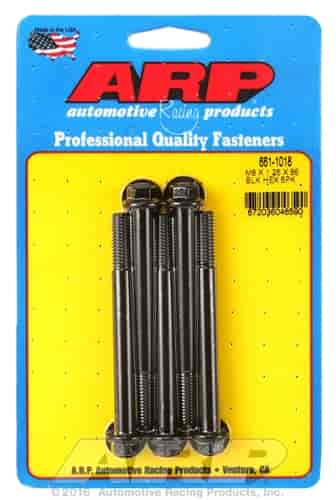Arp 661-1018 M8 x 1.25 x 85 hex black oxide bolts